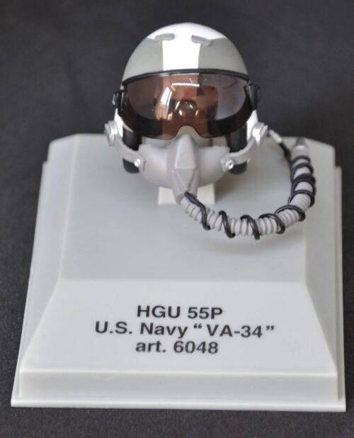 Casque métal au 1:8 PILOTE US NAVY VA34 pour passionné d'aviation