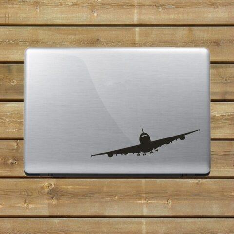 Avion de ligne autocollant