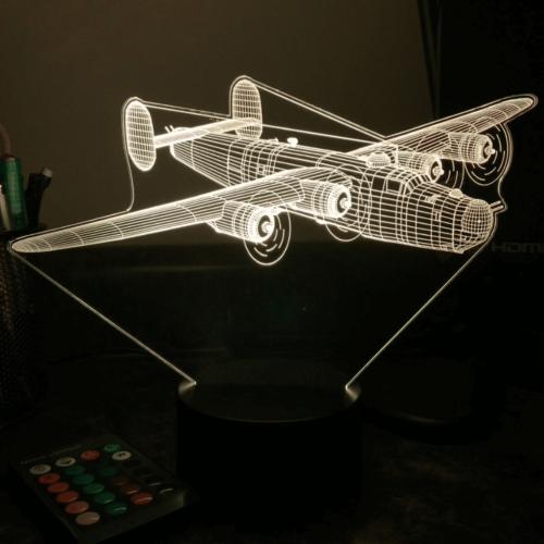 Lampe 3D LED AVION