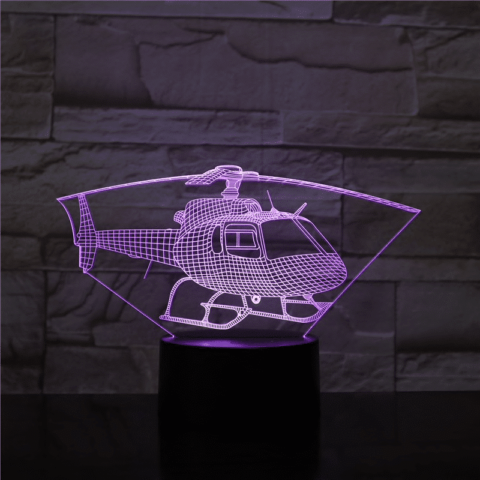 lampe led 3D helicoptere