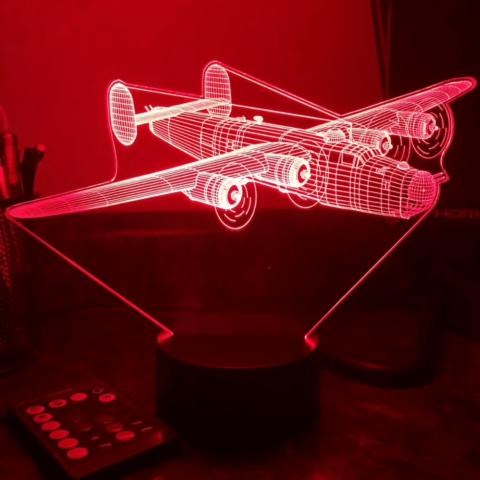 lampe rouge 3D B24