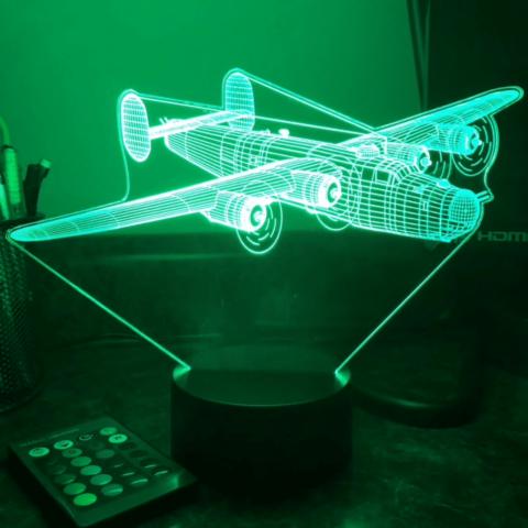 lampe verte 3D LED B24