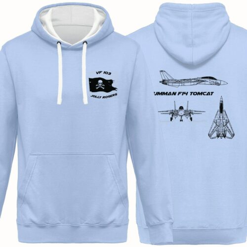 SWEATSHIRT F14 TOMCAT BLEU