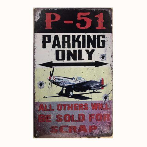Plaque métal P51 park