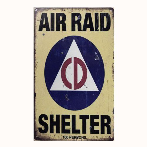 PLAQUE METAL AIR RAID