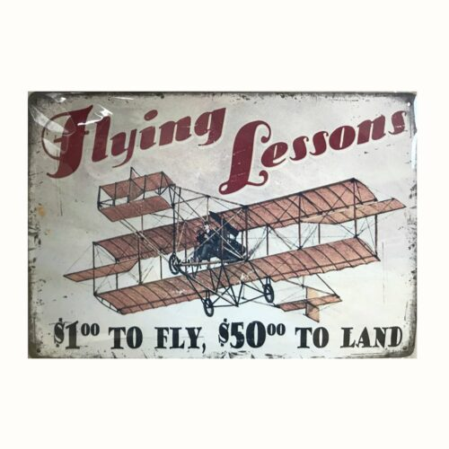 affiche vintage cours de pilotage