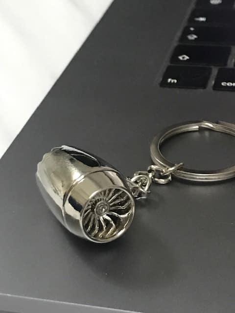 porte clé réacteur métal