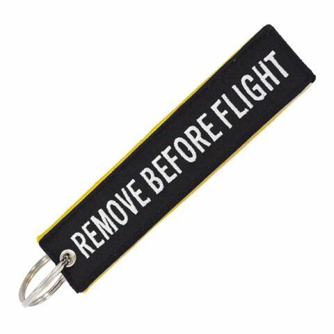 porte clé flamme noir remote before flight