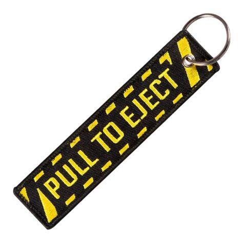 Porte clé brodé PULL TO EJECT