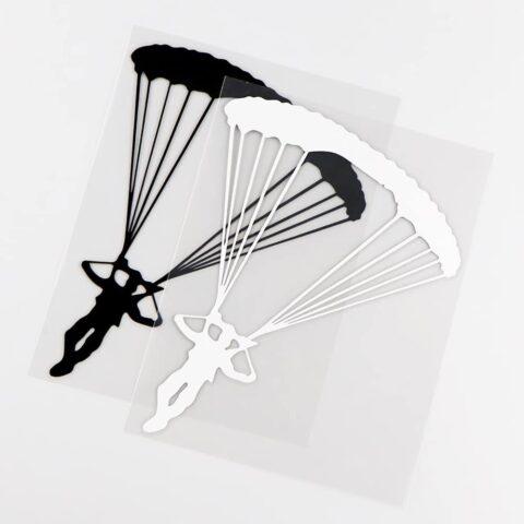 sticker parapente noir ou blanc