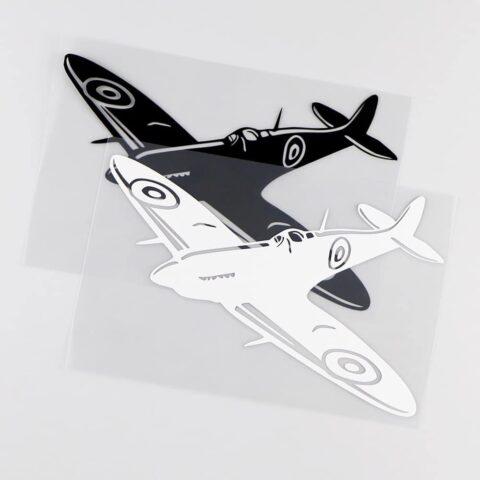 Sticker spitfire noir ou blanc