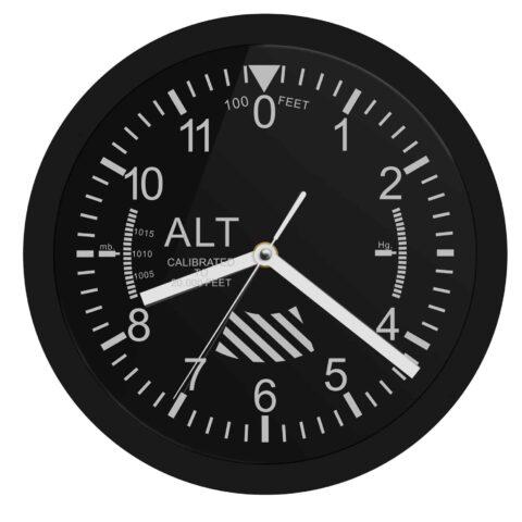 Vue horloge altimètre de style aviation