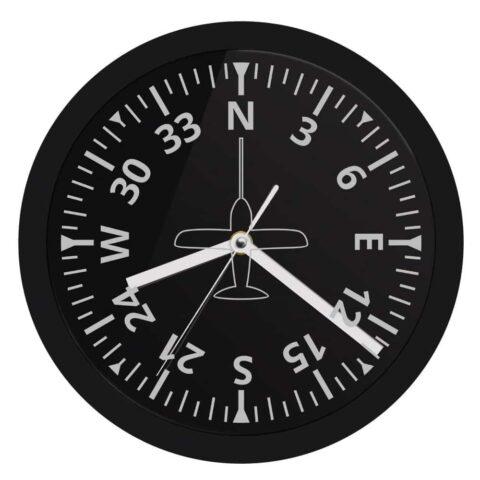 vue horloge indicateur de cap