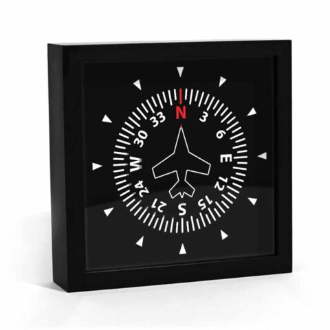 Horloge aéronautique instrument cap