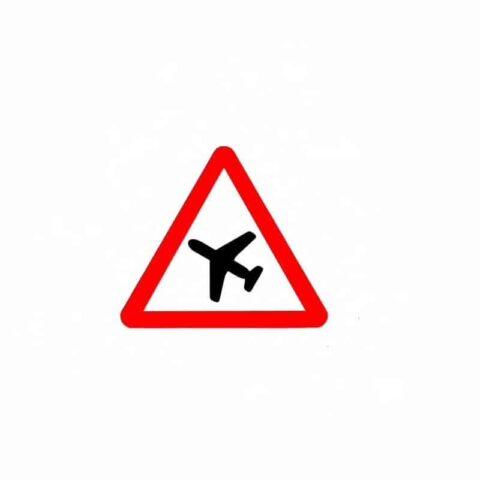 vue autocollant passage d'avions
