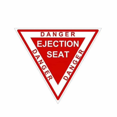 Autocollant sticker ejection seat