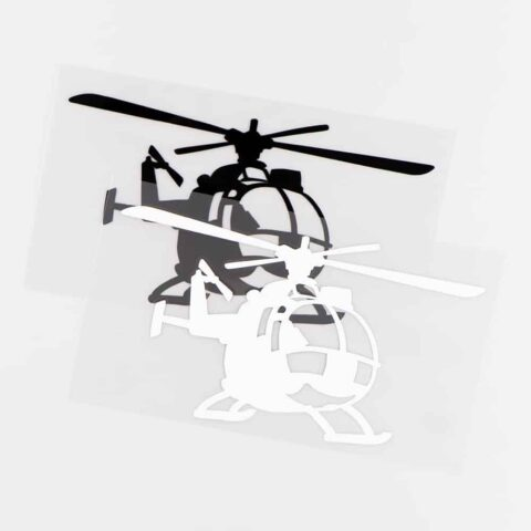 sticker helicoptere noir ou blanc