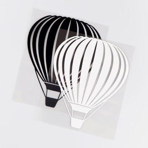 sticker montgolfière noir ou blanc