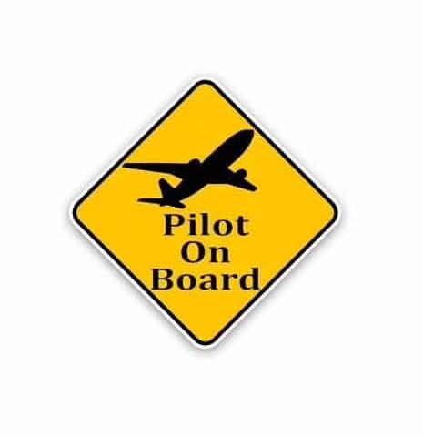 autocollant sticker pilot on board
