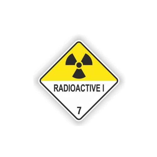 autocollant avertissement zone radioactive
