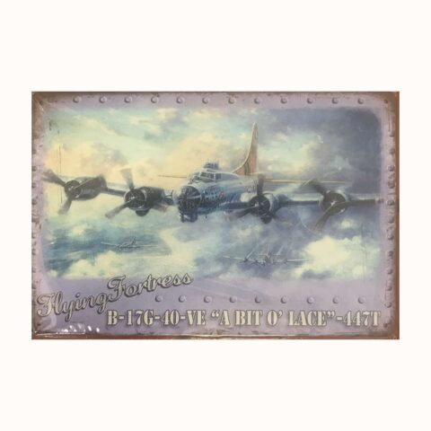 plaque B17 Flying Fortress