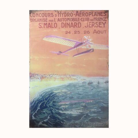 affiches metal avion