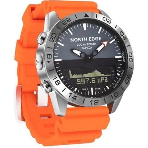montre pilote orange