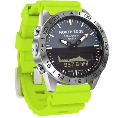 montre pilote bracelet vert