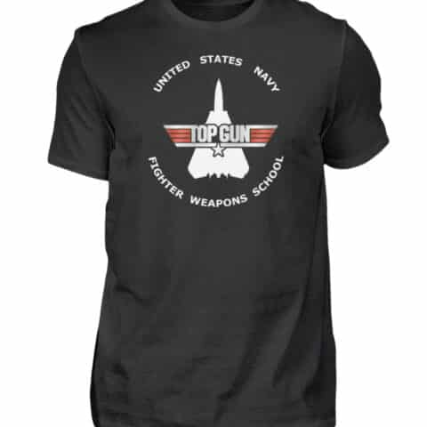 Tee-shirt Top Gun Fighter Weapons School - Men Basic Shirt-16