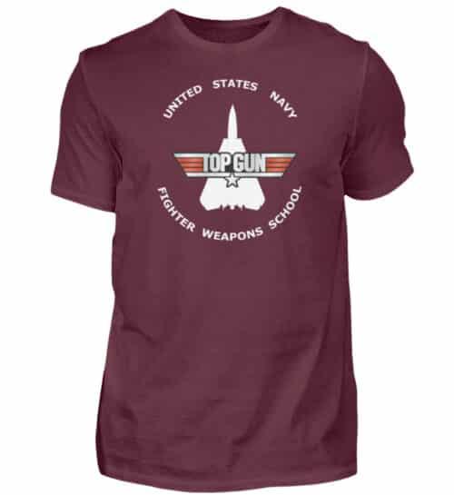 Tee-shirt Top Gun Fighter Weapons School - Men Basic Shirt-839