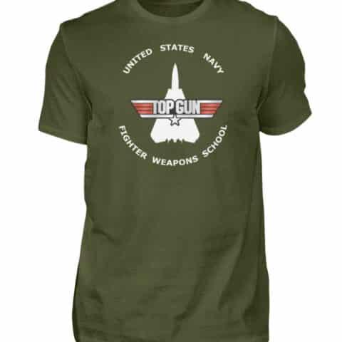 Tee-shirt Top Gun Fighter Weapons School - Men Basic Shirt-1109
