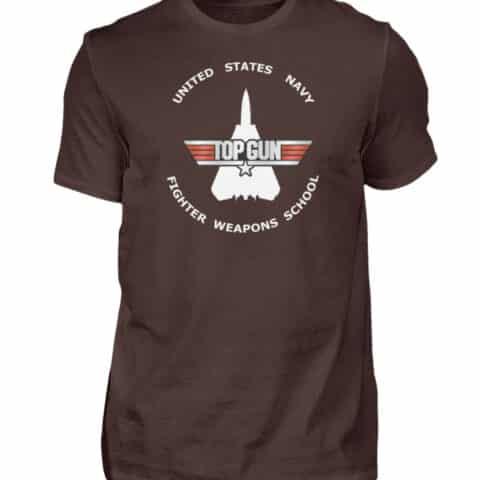 Tee-shirt Top Gun Fighter Weapons School - Men Basic Shirt-1074