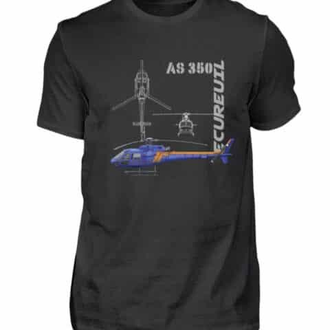 T-shirt Hélicoptère Ecureuil - Men Basic Shirt-16