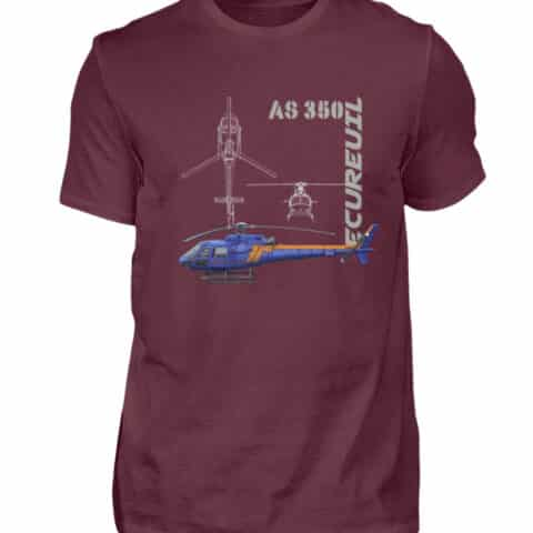 T-shirt Hélicoptère Ecureuil - Men Basic Shirt-839
