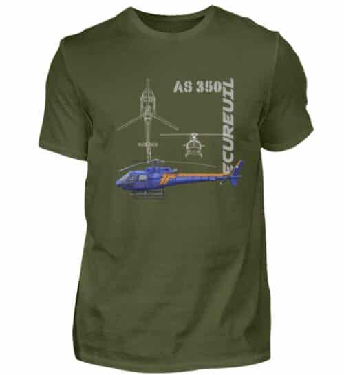 T-shirt Hélicoptère Ecureuil - Men Basic Shirt-1109