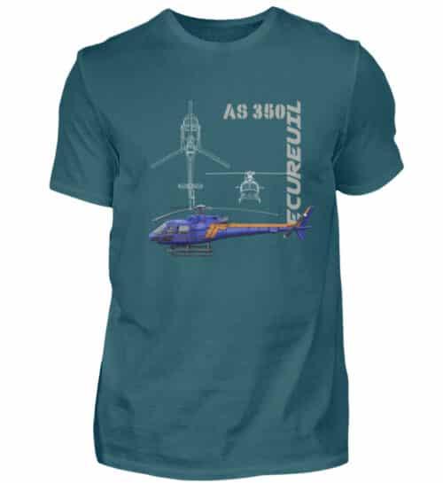 T-shirt Hélicoptère Ecureuil - Men Basic Shirt-1096