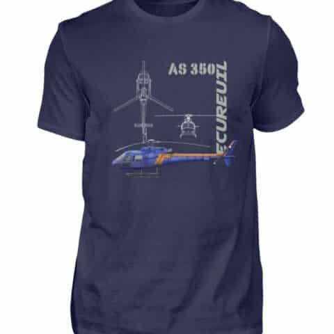 T-shirt Hélicoptère Ecureuil - Men Basic Shirt-198