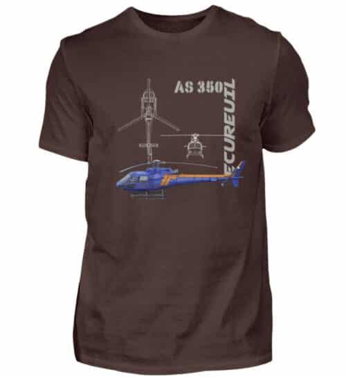 T-shirt Hélicoptère Ecureuil - Men Basic Shirt-1074